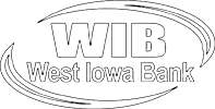West Iowa Bank logo white